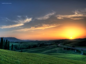 Sunset in Tuscany (Italy)