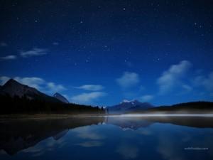 Maligne Lake, in Jasper National Park, Alberta, Canada