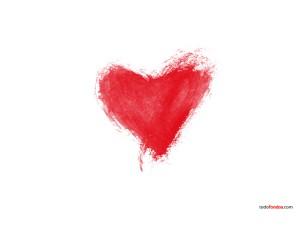 A heart hand drawn