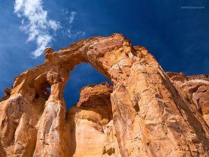 Grosvenor Arch, a sandstone double arch located in Utah (USA)
