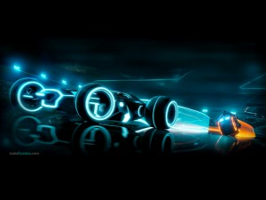 """Racing Bikes in """"Tron Legacy"""""""