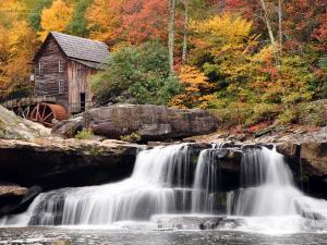 Waterfalls in Babcock State Park (West Virginia)