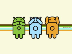 Different logos of Android