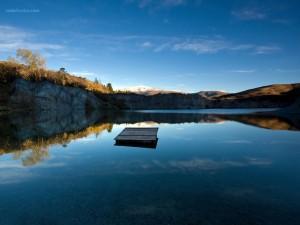 Lake in Saint Bathans, New Zealand