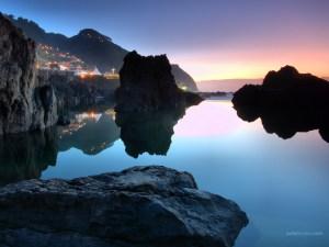 Calm waters, in Porto Moniz (Madeira Island, Portugal)