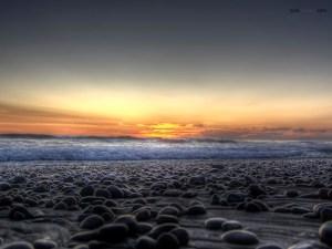 Stones on the beach (Carlsbad, California)
