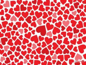 A sea of hearts