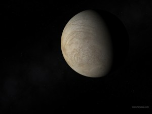 Europa (sixth moon of the planet Jupiter)