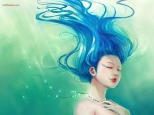Drawing of a mermaid