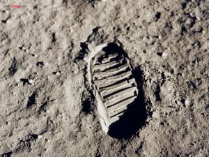 Footprint of man on the Moon