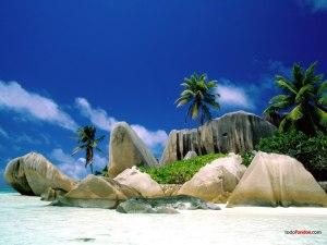 La Digue Island, in Seychelles