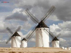 Windmills in Campo de Criptana (Ciudad Real, Spain)