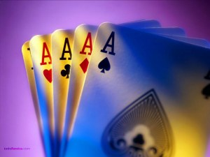 Poker aces, a winning hand