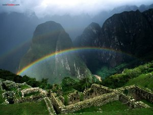 Rainbow over Machu Picchu