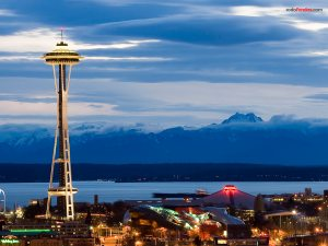 """""""Seattle Center"""" (a park and arts and entertainment center in Seattle, Washington)"""
