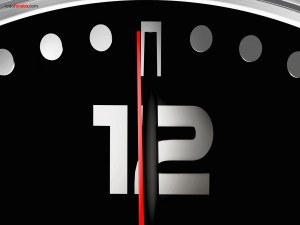 One second to twelve
