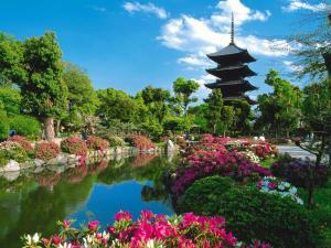 Pagoda of five eaves. Toji Temple (Kyoto)