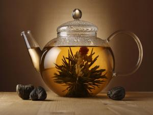Infusion of white tea flower