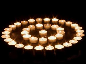 Circles of candles