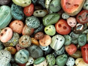 Stones with face