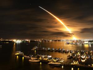 Night launch rocket