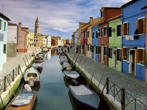 A canal of the island of Burano, Venice