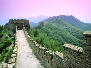 Inside of the Great Wall of China
