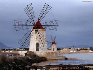 Windmills in Marsala, Sicily