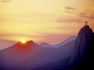 Christ the Redeemer at sunset, Rio de Janeiro