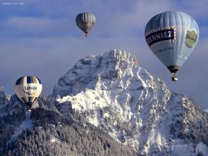 Balloon festival in Château-d'Oex, Switzerland