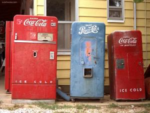 Old machines of Coke and Pepsi