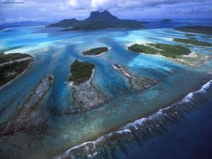 Reef Teeth of Bora Bora Lagoon, French Polynesia