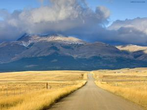 Road on the Montana Plains