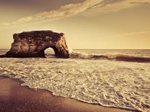Islet on the beach