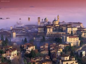 Fog over Bergamo (Lombardy, Italy)