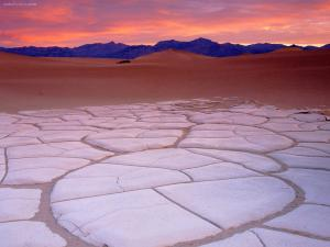 Clay formations in Death Valley (California)