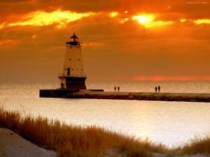 Ludington Light, a lighthouse in Michigan