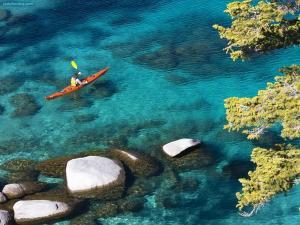 Kayaking at Tahoe Lake, Nevada