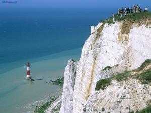 Lighthouse and cliff on Beachy Head (England)