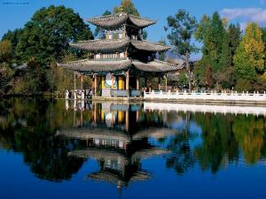 Pavilion in the Black Dragon Pool (Beijing, China)
