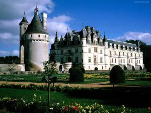 Chenonceau Castle and their gardens (France)