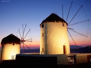 Mykonos windmills (Greece)