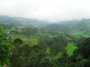 Valley in the Bogotá river (Colombia)