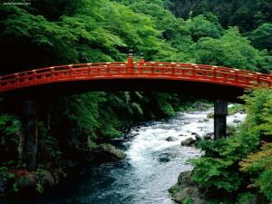 The Sacred Bridge Daiya River Nikko (Japan)
