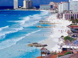 Cancun Shoreline, Mexico