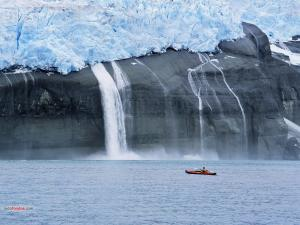 Kayaking near the ice