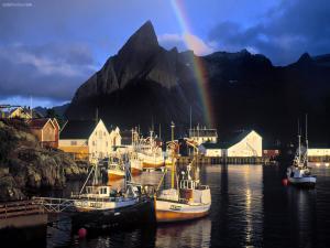 Rainbow in the port