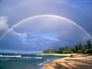 Rainbow in the beach