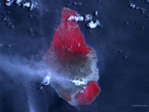 Satellite view of an island