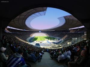 Panoramic view of a football stadium